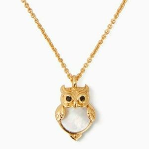 Kate Spade into the woods owl mini pendant - NWT